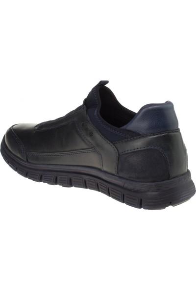 Forelli 45825 Erkek Lacivert Deri Comfort Ayakkabı