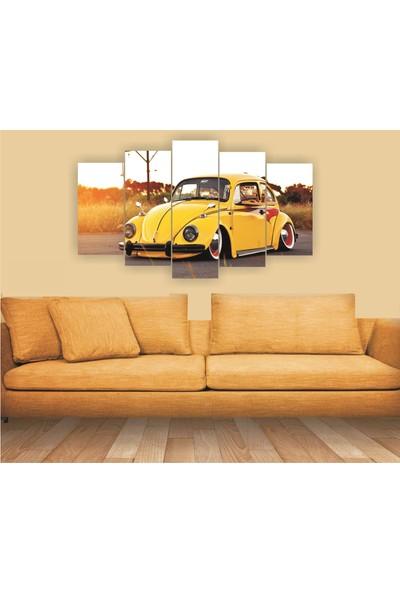 Dekorvia Arabalı Görsel 5 - 5 Parçalı MDF Tablo 100 x 60 cm
