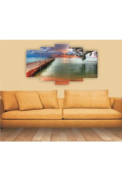 Dekorvia Manzara 53 - 5 Parçalı MDF Tablo 100 x 60 cm