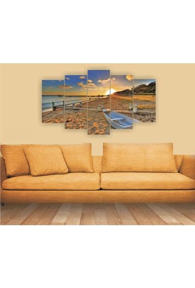 Dekorvia Manzara 22 - 5 Parçalı MDF Tablo 100 x 60 cm