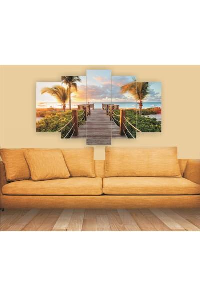Dekorvia Manzara 96 - 5 Parçalı MDF Tablo 100 x 60 cm