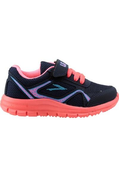 Lig Umay-S Lacivert Fuşya Günlük Fileli Kız Çocuk Spor Ayakkabı
