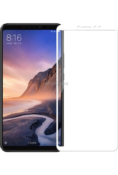 Gpack Xiaomi Mi Max 3 Full Kapatan Renkli Cam Beyaz