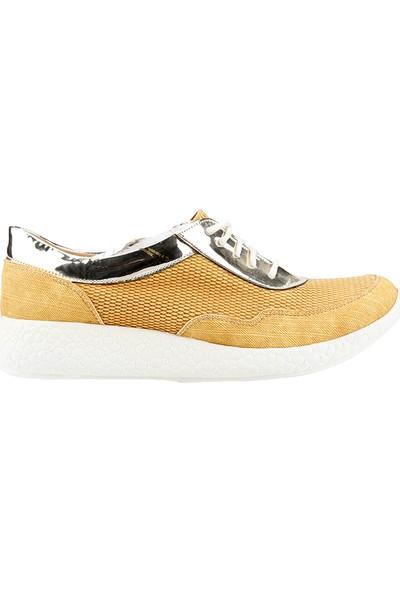 Teceras St495 Hardal Bağcıklı Günlük Kadın Spor Ayakkabı