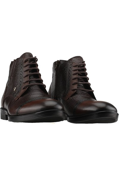 Pierre Cardin P1035 Kahve % 100 Deri Erkek Klasik Bot Ayakkabı