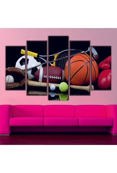 Dekorvia Spor Topları 4 - 5 Parçalı MDF Tablo 100 x 60 cm