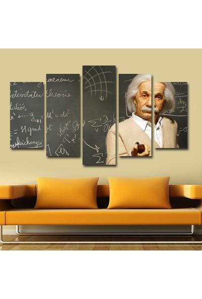 Dekorvia Albert Einstein 19 - 5 Parçalı MDF Tablo 100 x 60 cm