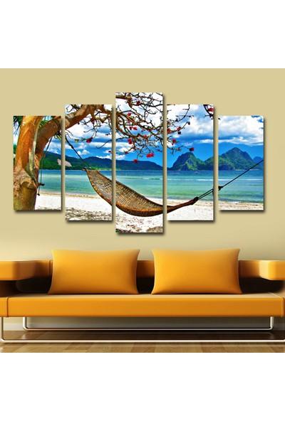 Dekorvia Sahil Manzarası 2 - 5 Parçalı MDF Tablo 100 x 60 cm