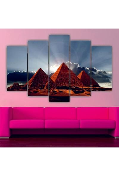 Dekorvia Manzara - 5 Parçalı MDF Tablo 100 x 60 cm