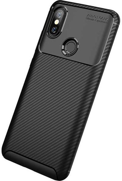 Lopard Xiaomi Mi 8 Kılıf Karbon Desenli Lux Oreo Mi8 Silikon Arka Kapak