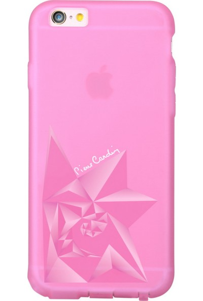 Pierre Cardin iPhone 6/6S Gül Desenli Silikon Arka Kapak PCR-S15 Pembe