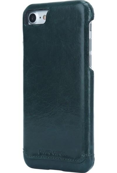 Pierre Cardin iPhone 7/8 Deri Klasik Arka Kapak PCL-P03 Haki
