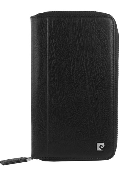 Pierre Cardin iPhone 7/8 Fermuarlı Cüzdanlı Deri Kılıf PCL-P10-N Siyah