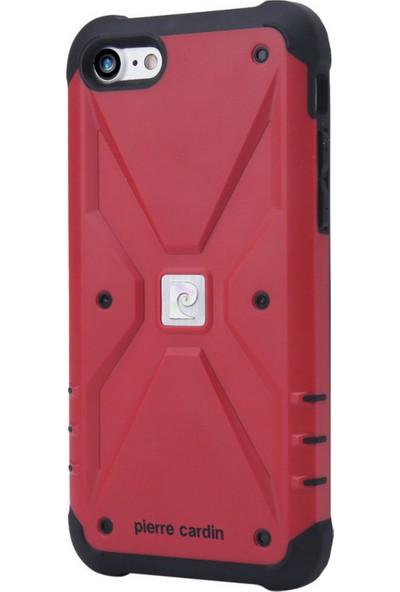 Pierre Cardin iPhone 7/8 Silikon Maksimum Koruma Arka Kapak PCR-S20 Kırmızı