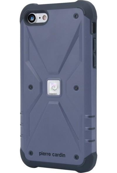 Pierre Cardin iPhone 7/8 Silikon Maksimum Koruma Arka Kapak PCR-S20 Mor