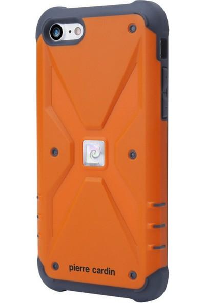 Pierre Cardin iPhone 7/8 Silikon Maksimum Koruma Arka Kapak PCR-S20 Turuncu