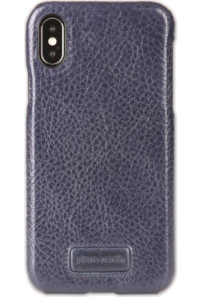 Pierre Cardin iPhone XS Max (6.5) Klasik Deri Arka Kapak PCS-S05 Lacivert