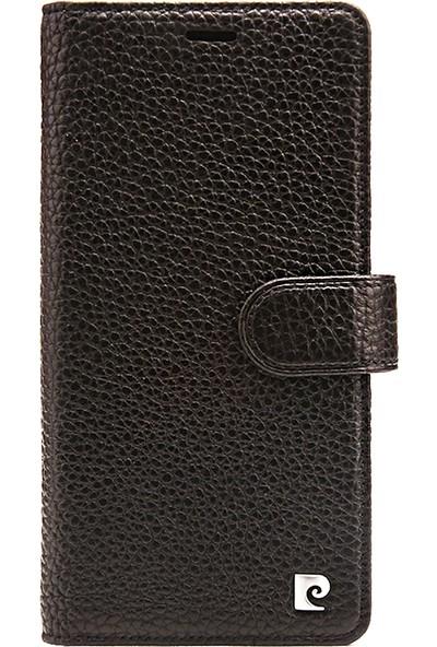 Pierre Cardin iPhone XS Max (6.5) Deri Kapaklı Kılıf PCS-P08 Siyah