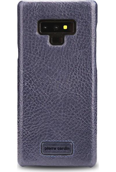 Pierre Cardin Samsung Note 9 Klasik Deri Arka Kapak PCS-S05 Lacivert