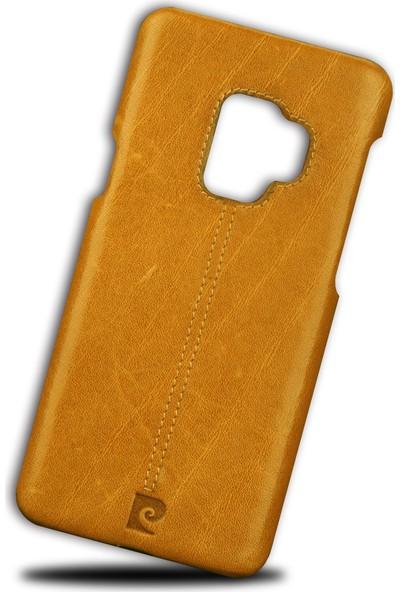 Pierre Cardin Samsung S 9 Plus Klasik Deri Arka Kapak PCL-P03 Taba