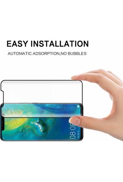 Kılıfist Huawei Mate 20 Pro 3D Tam Kapatan Cam Ekran Koruyucu Siyah