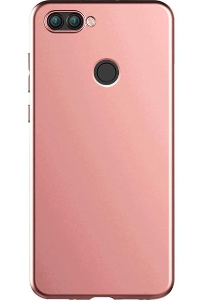Kılıfist Asus Zenfone Max Plus Zb570Tl Kılıf Premier Mat Esnek Silikon Kılıf + Esnek Nano Cam Rose Gold