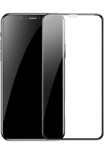 Dafoni Samsung Galaxy S7 Edge Curve Tempered Glass Premium Full Siyah Cam Ekran Koruyucu Siyah