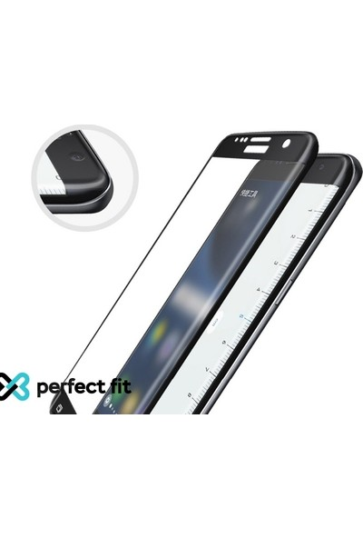 Eiroo iPhone XR Curve Tempered Glass Full Siyah Cam Ekran Koruyucu Siyah