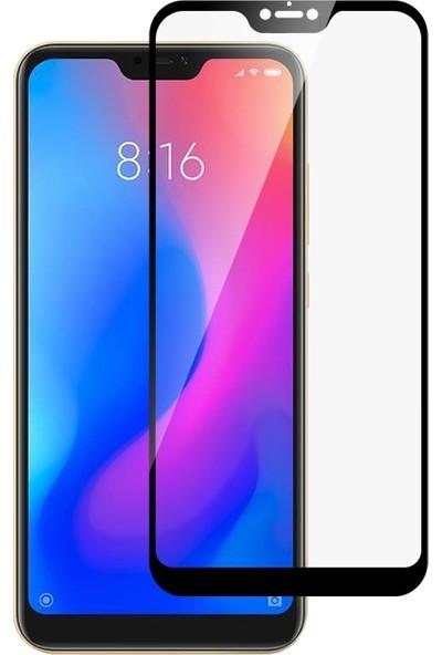 Smody Xiaomi Mi 8 Lite 5D Cam Tam Ekran Koruyucu Çerçeveli Cam Full Ekran Siyah