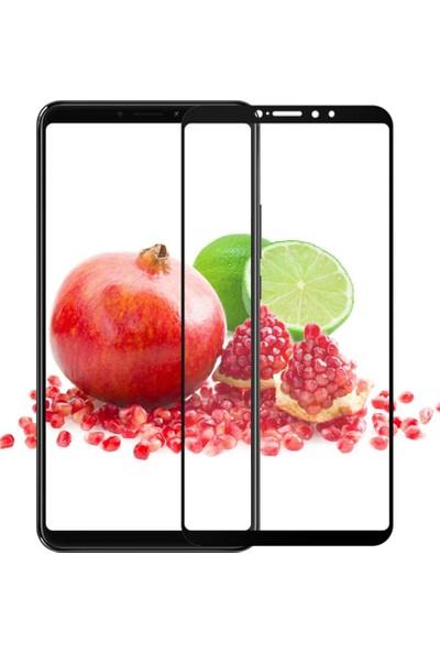 Smody Xiaomi Mi Max 3 Tam Ekran 5D Cam Koruyucu Çerçeveli Cam Full Ekran Siyah