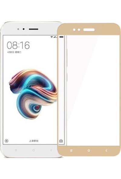 Rowen Xiaomi Mi 5X Tam Kaplayan Temperli Cam Full Kaplama Ekran Koruyucu Film Altın