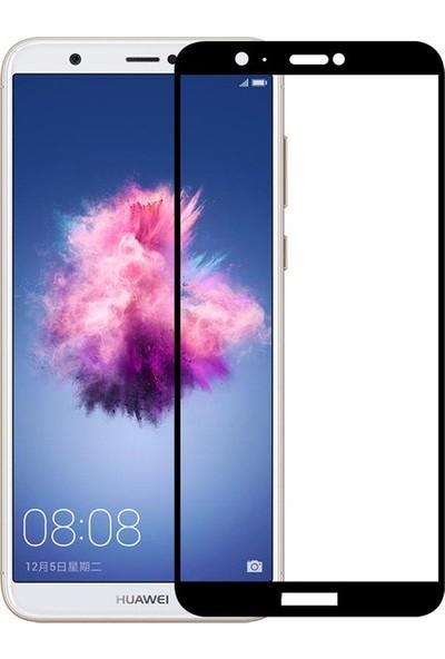 Rowen Huawei P Smart Tam Kaplayan Temperli Cam Full Kaplama Ekran Koruyucu Film Siyah