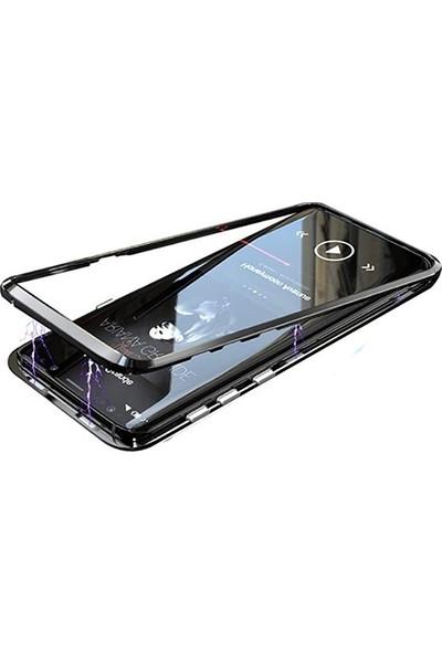 Ally Samsung Galaxy Note 9 Mıknatıslı 360 Koruma Arkası Cam Metal Frame Kılıf