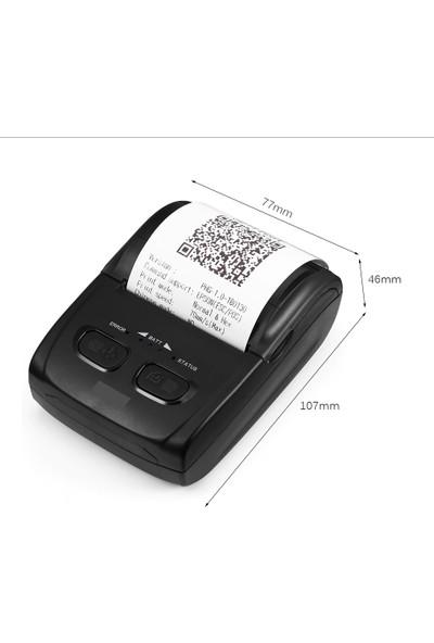 Ptfis Taşınabilir Kablosuz Bluetooth Termal Yazıcı 58mm