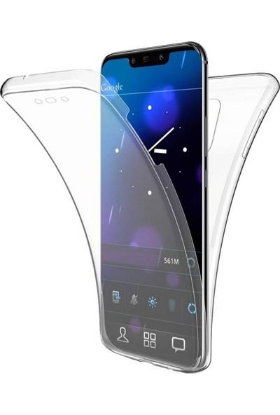 Gpack Huawei Mate 20 Pro Kılıf Ön Arka Şeffaf Silikon Koruma Şeffaf