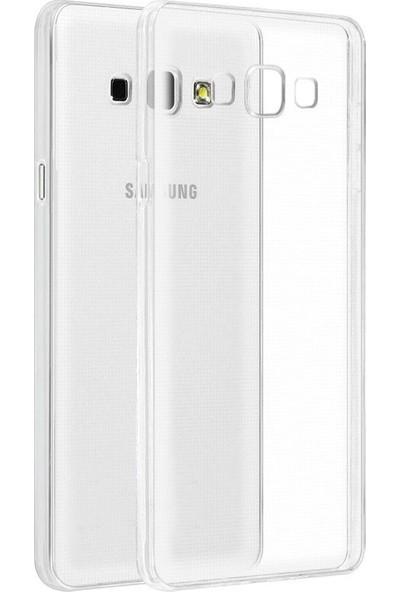 Kılıfist Samsung Galaxy A5 2015 A500 Kılıf İnce Silikon Kılıf + Cam