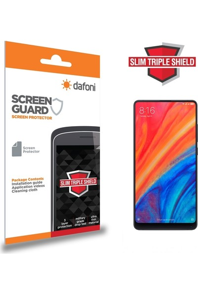 Dafoni Xiaomi Mi Mix 2S Slim Triple Shield Ekran Koruyucu