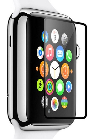 Dafoni Apple Watch Curve Tempered Glass Premium Full Cam Ekran Koruyucu (38 Mm)