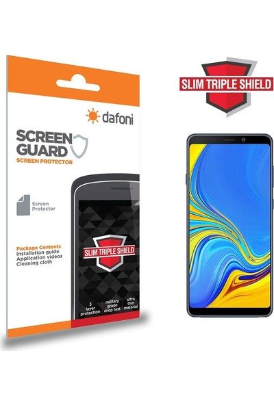 Dafoni Samsung Galaxy A9 2018 Slim Triple Shield Ekran Koruyucu