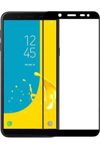 Eiroo Samsung Galaxy J6 Plus Curve Tempered Glass Full Siyah Cam Ekran Koruyucu