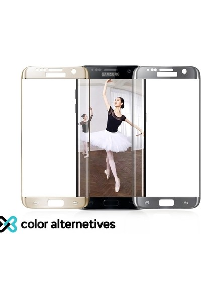 Eiroo Samsung Galaxy J4 Plus Curve Tempered Glass Full Siyah Cam Ekran Koruyucu