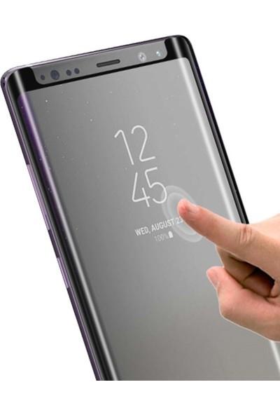 AkseStore Samsung Galaxy S9 Tam Yapışan 5D Mini Ekran Koruyucu Cam Siyah