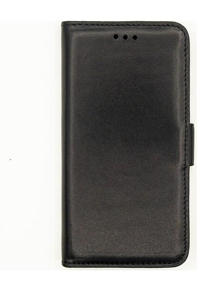 Weoze Apple iPhone XS Max Kılıf 2in1 Kılıf Deri Cüzdan Kılıf Kapaklı Siyah