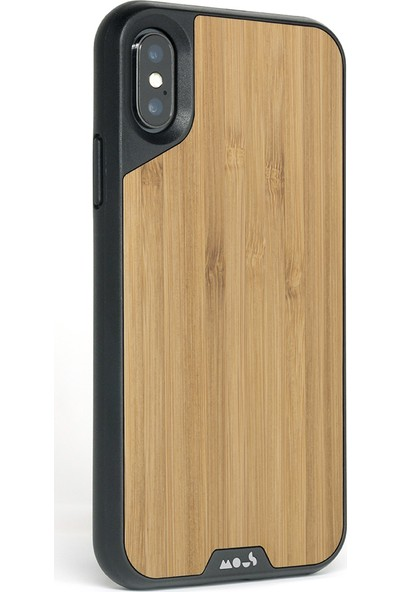 MOUS LİMİTLESS 2.0 CASE - iPhone X BAMBOO NO SCREEN PROTE Bamboo (Black Rim)