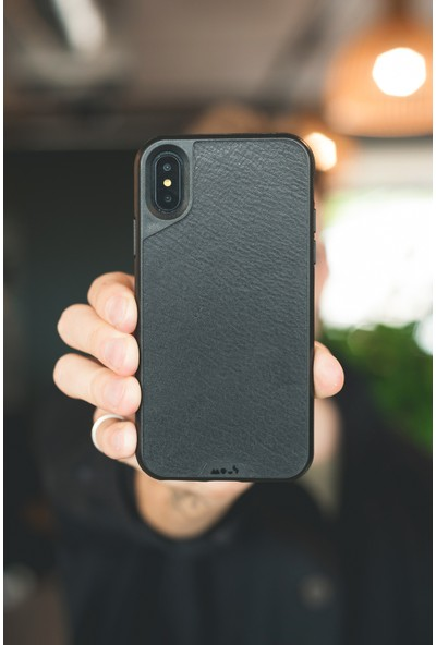 Mous Limitless 2.0 Case-iPhone X Black Leather No Screen Protector Kılıf
