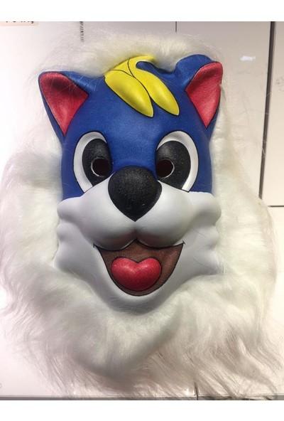 PartiniSeç 1 Adet Hayvan Şekilli Maske, Tüylü Köpek Şeklinde Parti Maskesi