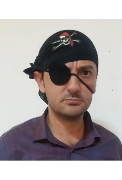 PartiniSeç 1 Adet Korsan Bandana Göz Bandı Set Erkek Parti Malzemesi
