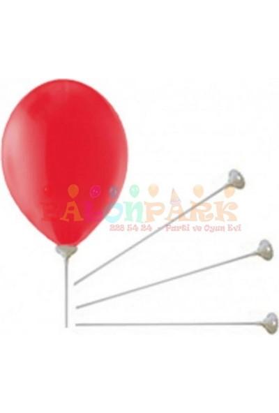 PartiniSeç 100 Adet Balon Çubuğu Sopası ve 100 Adet Kup Çubukları
