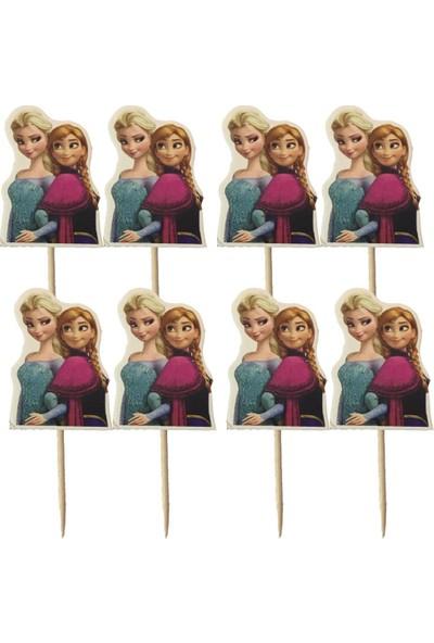 PartiniSeç 20 Adet Elsa (Karlar Ülkesi) Sunum Kürdanı Kız Parti Malzemesi