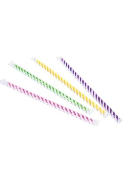 PartiniSeç 50 Adet Renkli Pipet Doğum Günü Parti Pipetleri